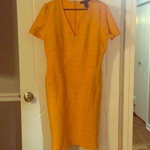Gold, bondage dress